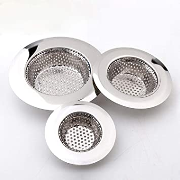 Drain Hair Catcher 3 Pack Shower Drain Cover For Bathtub Kitchen Sink Strainer Stainless Steel Bathroom Sink Drain Stopper With Different Sizes From 1 5 To 4 5 Amazon Co Uk Home Kitchen