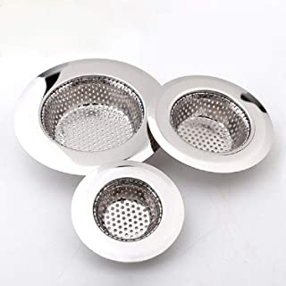 """Best Drain Hair Catcher(3 Pack), Shower Drain Cover for Bathtub, Kitchen Sink Strainer, Stainless Steel Bathroom Sink, Drain Stopper with Different Sizes from 1.5"""" to 4.5"""" Review"""