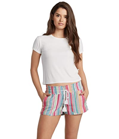 Roxy Oceanside Shorts Yarn-Dye (Bright White Mexi Stripe) Women