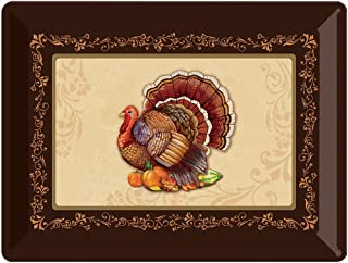 Creative Converting 325231 Turkey Plastic Tray, 12