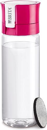 BRITA 4006387061227 Fill&Go Bouteille Filtrante Plastique Rose 7,2 x 7,8 x 24,5 cm