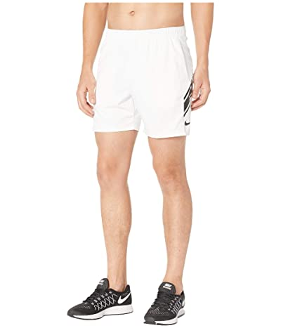 Nike NikeCourt Dry Shorts 7 (White/Black/Black) Men