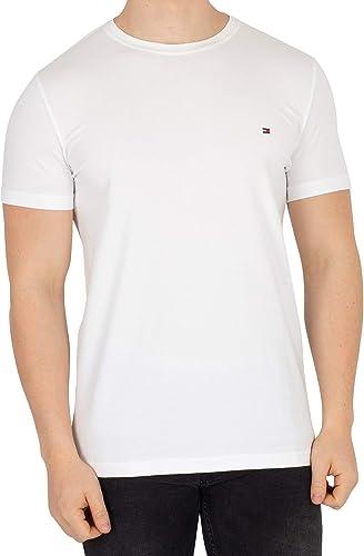 Tommy Hilfiger - Tommy Hilfiger Mens - Mens T Shirt - Mens Clothes - Designer T Shirts Men - Core Stretch Slim CN T-S...