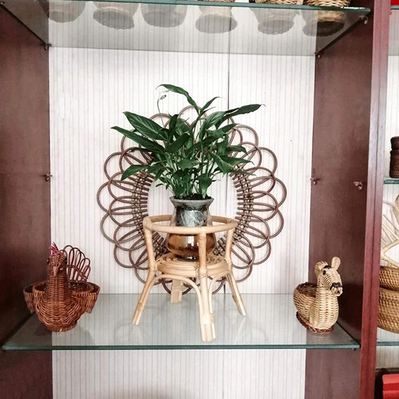 Blumenst/änder Indoor Rattan Pflanzenst/änder Blumentopfhalter Holz Nordisch Blumenstand Restaurant Blumentopfst/änder Balkon Interieur Gr/üner Pflanzenrahmen F/ür Home Living Room Entryway Decor