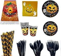 10 Mensen Zwarte Oranje Pompoen Halloween Thema Horror Sfeer Partij Servies Wegwerp Keukengerief Paper Products for Festivals