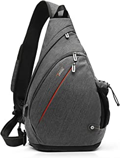 Tudequ Crossbody Backpack Sling Bag Hiking Daypack with WET Pocket Men Women