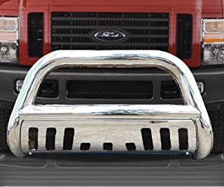 Span Bull Bar Skid Plate Front Push Bumper Grille Guard Stainless Steel Chrome for 2005-2007 Ford F250,F350,F450,F550HD Super Duty 2005 2006 2007 Ford Excursion