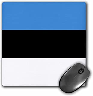 Flag of Estonia - Estonian blue black white horizontal stripes - Mouse Pad, 8 by 8 inches (mp_158313_1)