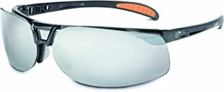 Uvex by Honeywell Protégé Safety Glasses, Metallic Black Frame with Silver Mirror Lens & Ultra-Dura Anti-Scratch Hardcoat (S4203)