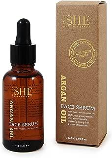 Om She Aromatherapy - Argan Oil Serum 1.01 fl 0z (30ml) - Vegan Friendly - Paraben Free - Cruelty Free - Anti-Oxidant - Moisturising