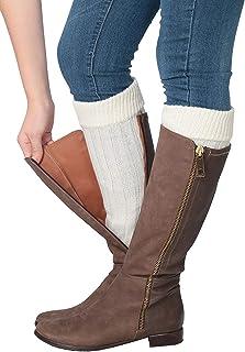 96d73fc89c9 Amazon.com  Ivory - Leg Warmers   Socks   Hosiery  Clothing