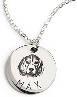 Linkes Personalized Pet Gifts Custom Pet Jewelry Dog Necklace Cat Gift Custom Portrait Unique Gift