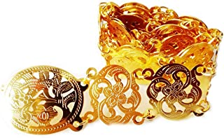 Thai Gold Belt Plate Vintage Women Costume Wedding Traditional Chain Fashion Dress Dance Ram Thai Length 40-41 Inches 1 Piece
