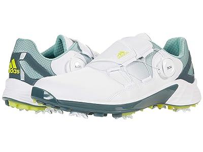 adidas Golf ZG21 Boa (White/Acid Yellow/Hazy Green) Women