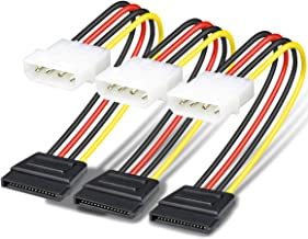 SATA to Molex, Benfei 3 Pack 4 Pin Molex to SATA Power Cable - 10 Inches