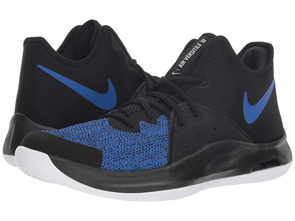 Nike Air Versitile III (Black/Game Royal/White) Basketball Shoes