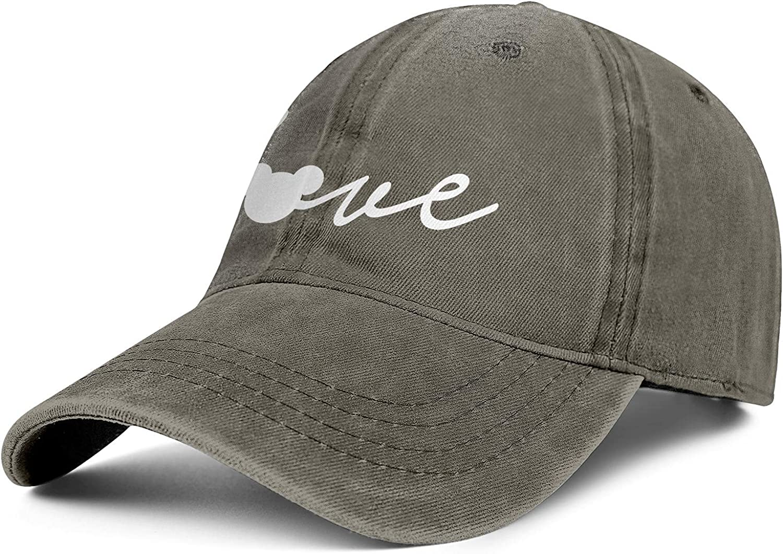 Love Mickey Mouse Head Dad Trucker Cap Vintage Cowboy Hat Adjustable Baseball Cap for Men and Women
