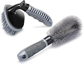 2 عدد قلع تمیزکننده فولاد و آلیاژ چرخ، تمیزکننده رینگ برای اتومبیل شما، موتور سیکلت یا دوچرخه ابزار برش قلم مو