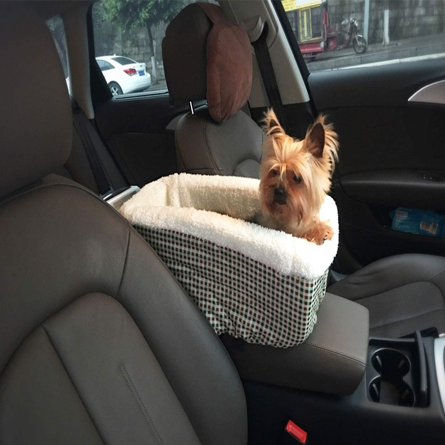 Pet car mat car Charter Bag Double Padded pet car Bag Waterproof car car mat, Travel Booster Candtong (color   C)