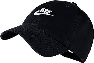 ba672a53 Nike Men's Cotton Sportswear Heritage 86 Adjustable Cap (Black/White, Free  Size)
