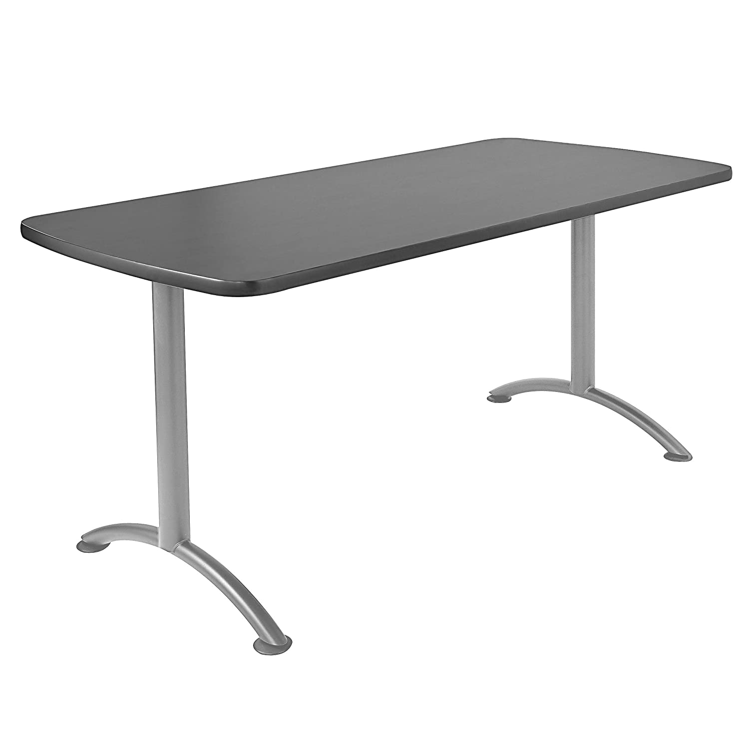 """Iceberg ICE69217 ARC 5-foot Rectangular Conference Table, 30"""" x 60"""", Graphite/Silver Leg : Office Products"""