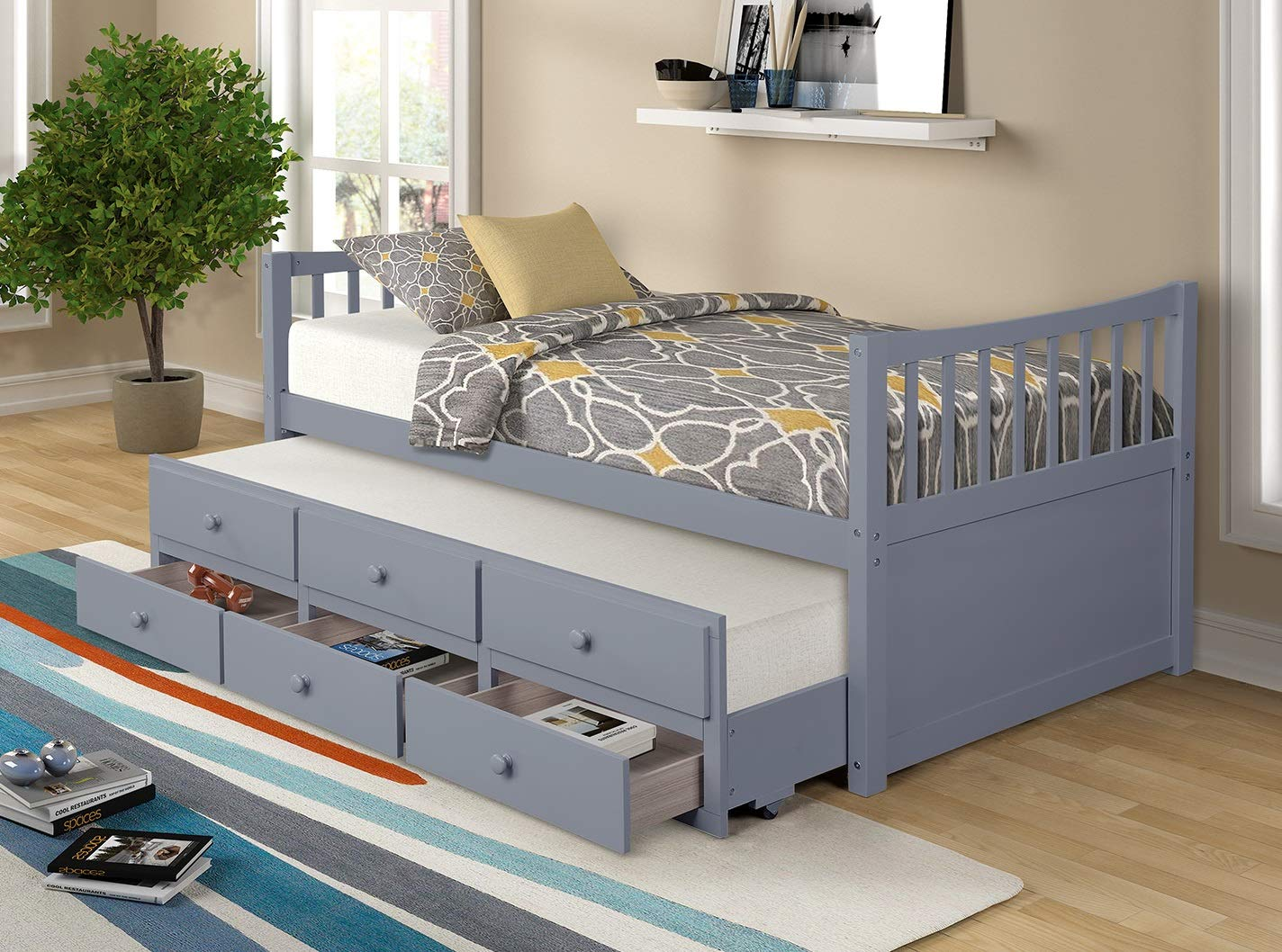Captains Storage daybed Trundle Drawers