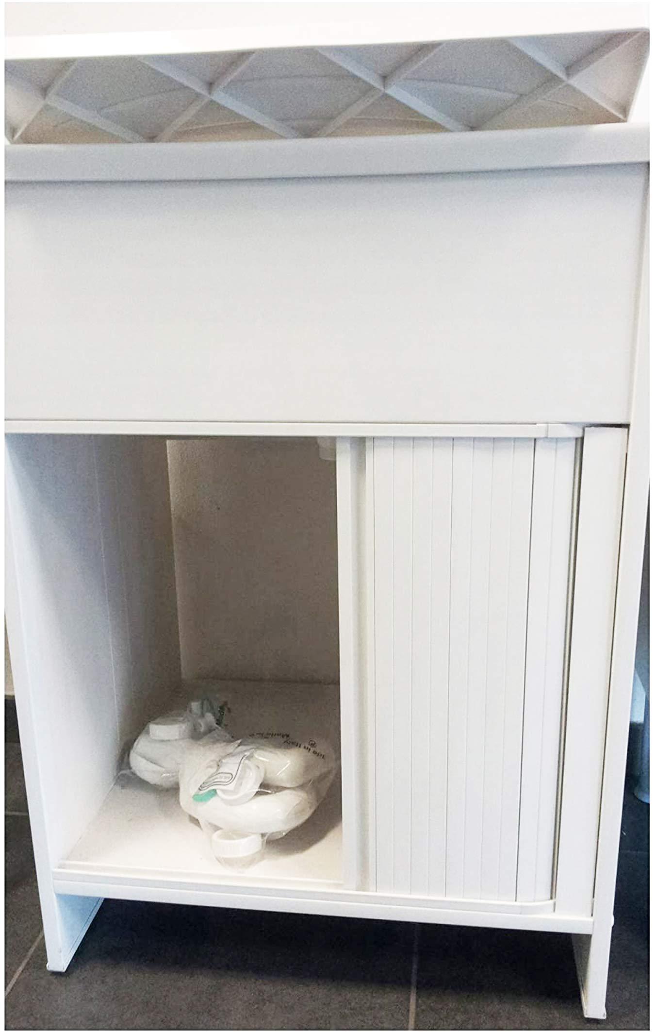 Negrari 4002k - Hunde con puerta corredera, pvc, blanco, de 60 x 50 x 85 cm: Amazon.es: Bricolaje y herramientas