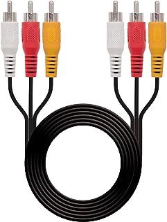 NanoCable 10.24.0802 - Cable de audio video 3 RCA, 3xRCA/M-3xRCA/M, macho-macho, negro, 1.8mts