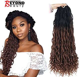 Goddess Box Braids Crochet Braids Hair with Curly ends Synthetic Kanekalon Fiber Braiding Hair 24 Inch 6 Packs/lot(1B-30)