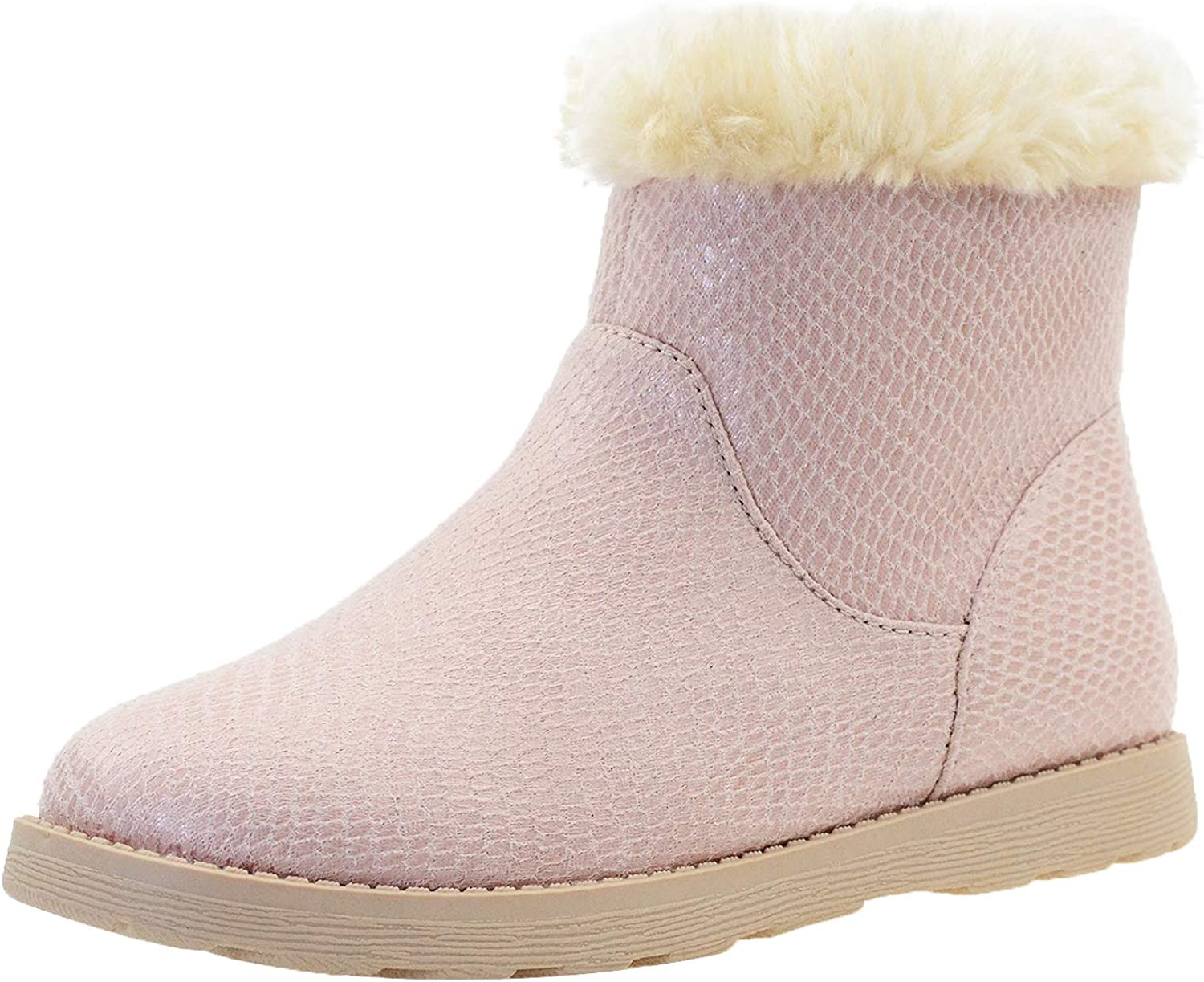 Choice LseLom-Girls-Boots-Warm-Ankle-Snow-Boots Kids Soft Outlet sale feature Plush Lining