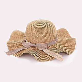 ZUZEN Visera para Mujer Tejido a Mano Sombrero de Paja Cúpula Sombrero para el Sol para Mujer Bolsa Suave Sombrero de Panamá Protección UV Sombrero de Playa Protector Solar