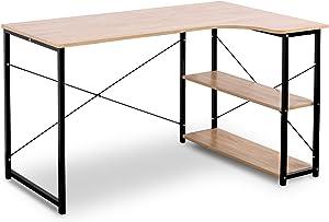 Woltu Mesa de Escritorio Esquinero Mesa de Computadora con Madera,120 x 74 x 71,5 cm TSB06hei