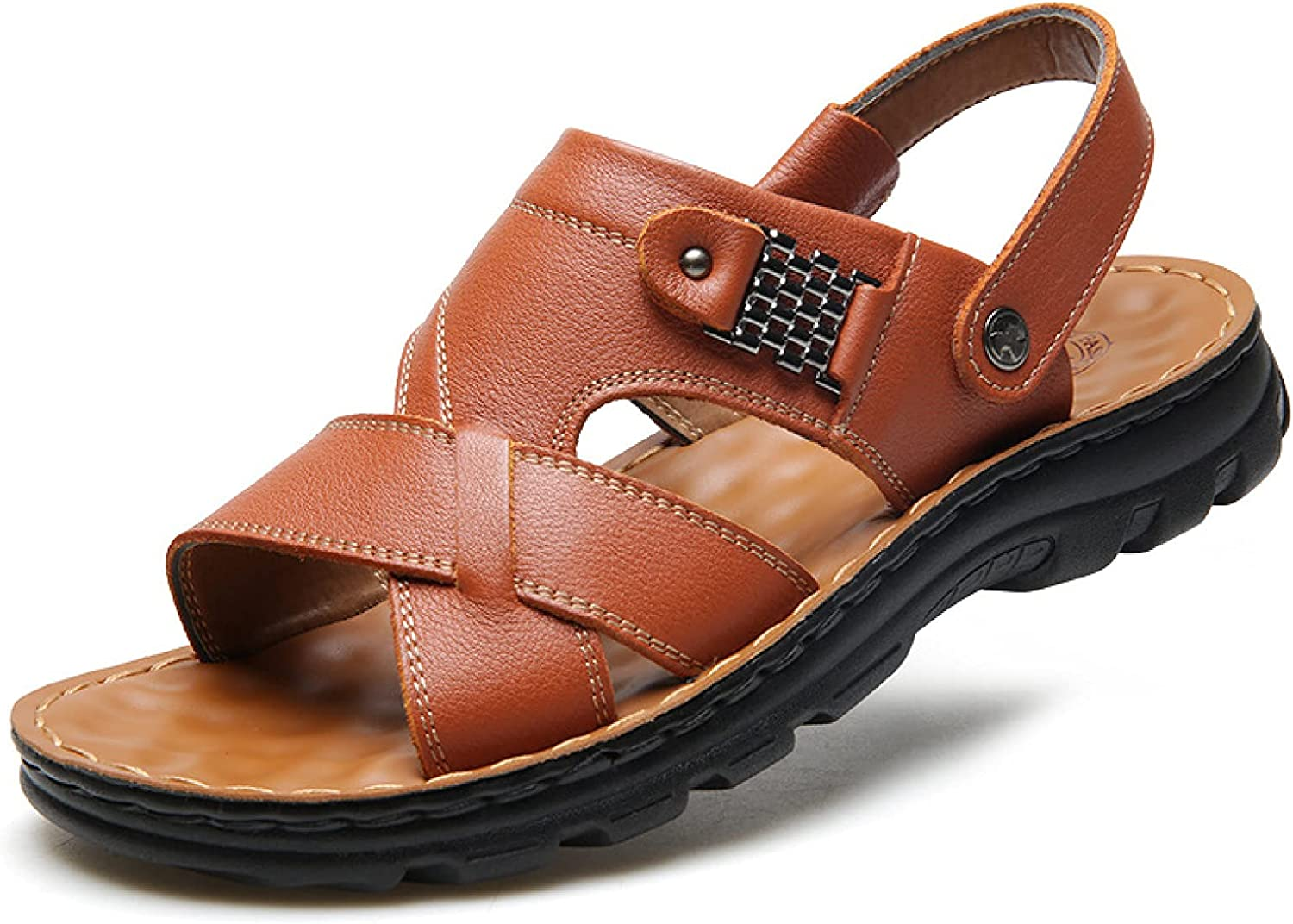 Men Summer Ranking TOP1 Hiking Open Toe Rubber Sandal Sole Two Wa Max 55% OFF Lightweight