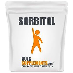 BulkSupplements.com Sorbitol Powder Keto Friendly Food - Sugar Substitutes - Low Calorie - Sugar Free Powdered Sugar - Sugar Alternative (250 Grams - 8.8 oz)