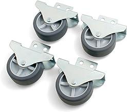 Design61 4 x kastbokwielen, bedladerol, meubelwielen, zijdelings schroefbaar, rol 30 x 14 mm met zacht loopvlak