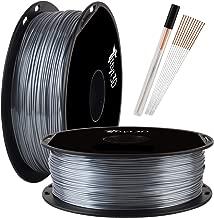 Shine Silver PLA 3D Printer Filament 1.75mm Silk Shiny Aluminium Metal Silver 3D Printing Material Widely Compatible 3D Printers TTYT3D