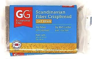 GG Scandinavian Fiber Crispbread with Oat Bran - 10 Pack (3.5 ounce-100 gram) - The Appetite Control Cracker