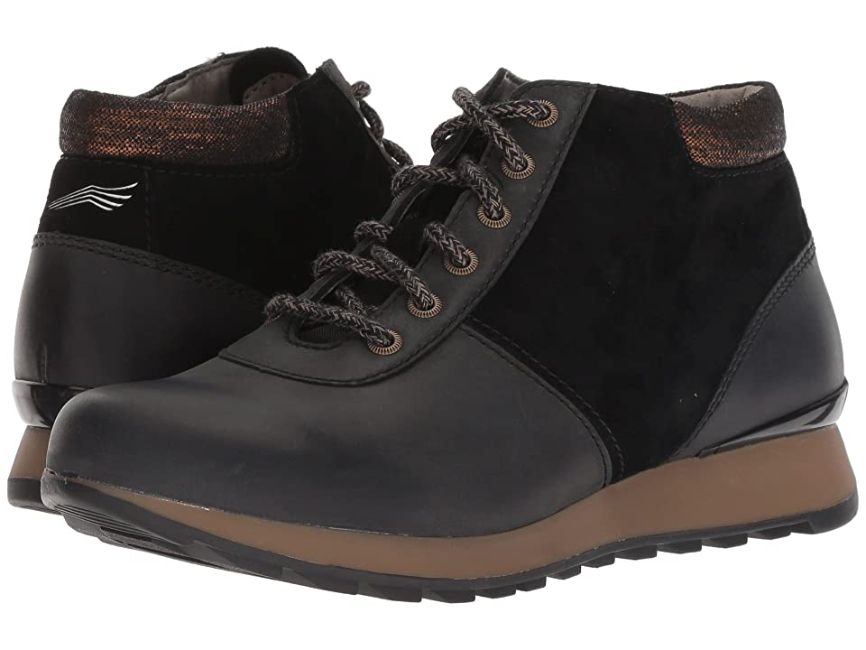 Dansko Ginny (Black Burnished Nubuck) Women