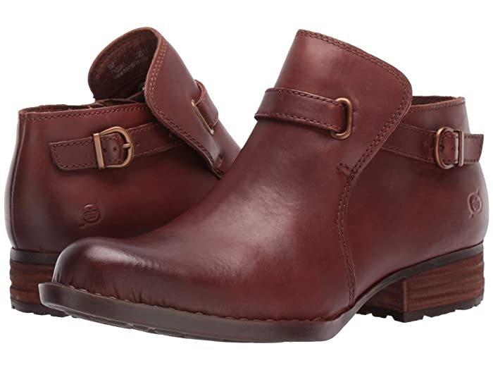 Born  Kristina (Brown Full Grain Leather) Womens Pull-on Boots