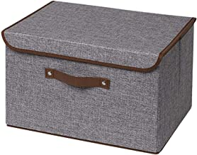 Storage Bins, UUJOLY Foldable Storage Box Cube with Lids and Handles Fabric Storage Basket Bin Organizer Collapsible Drawe...