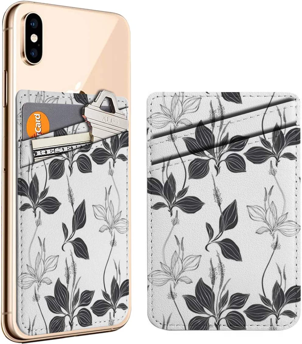 Plantain Black White Cell Phone Stick Credence Max 40% OFF On Credit Card Leathe ID