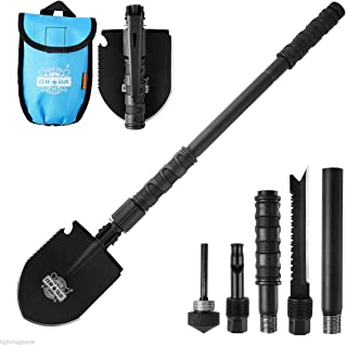 10 in 1 Utility Folding Camping Hiking Shovel Spade Axe Military Self-Defense Survival Tool Set Multi Outdoor Camping Gear...