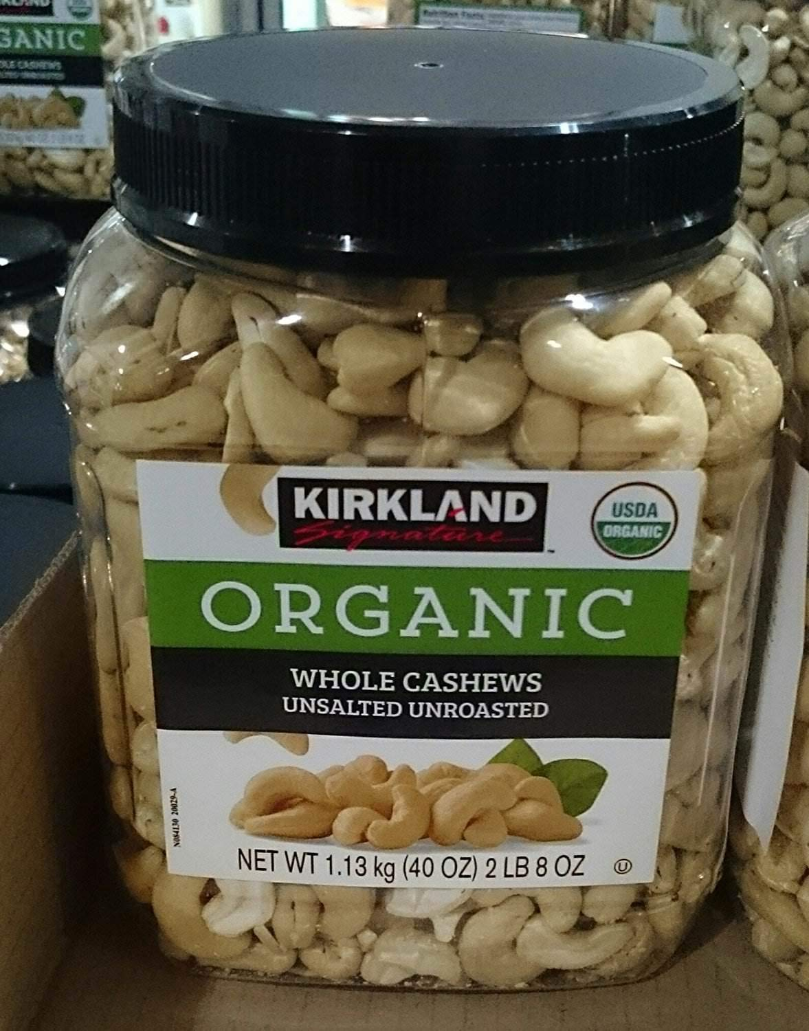 Kirkland Signatures Organic Whole Cashews Classic F Unroasted Unsalted Max 88% OFF