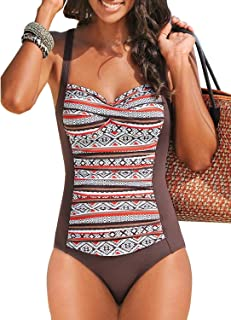 26c199df06762 Happy Sailed Womens Multicolored Tribal Print 1 Piece Swimsuit