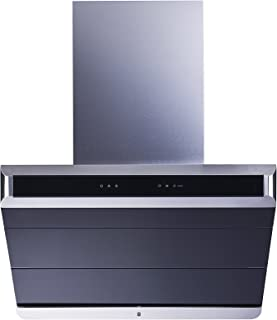 Winflo Premier 30 In. 900 CFM Ducted Stainless Steel/Glass Wall Mount Range Hood with Baffle Filter, Touch Sensor Control, Turbo Boost and Self Clean