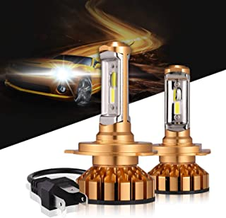 H4/9003/HB2 Led Headlight Bulbs 50W 10000 Lumens 6000K Xenon White Extremely Bright COB Chips Error-free H4 Led headlight Kit Motorcycle and Car Headlight by Max5-2 Yr Warranty