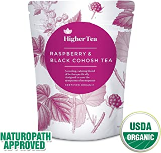 Raspberry and Black Cohosh Tea for menopause relief. Perfect Cooling support, calming tea formula for symptoms like hot flashes, sweats and tiredness. Natural alternative to Menopause Supplements