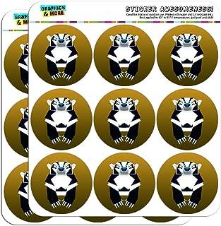 Geometric Badger Black and White Honey 2