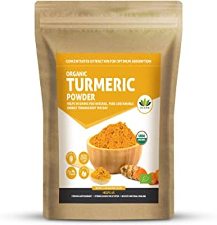 Virgin Grade Organic Turmeric Curcumin 100% RAW, Certified Organic, Highest Potency, Premium Joint & Inflammatory Support,...
