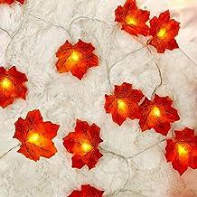 guirnalda luces 10 led boda flores artificiales hojas otoño decoracion exterior led luz jardin adornos halloween calabazas decorativas habitacion arbol de navidad interior cadena de luces fiesta